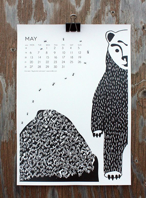 """May Be We Come Upon"" by Ossi Laine, for May in calendar 13."