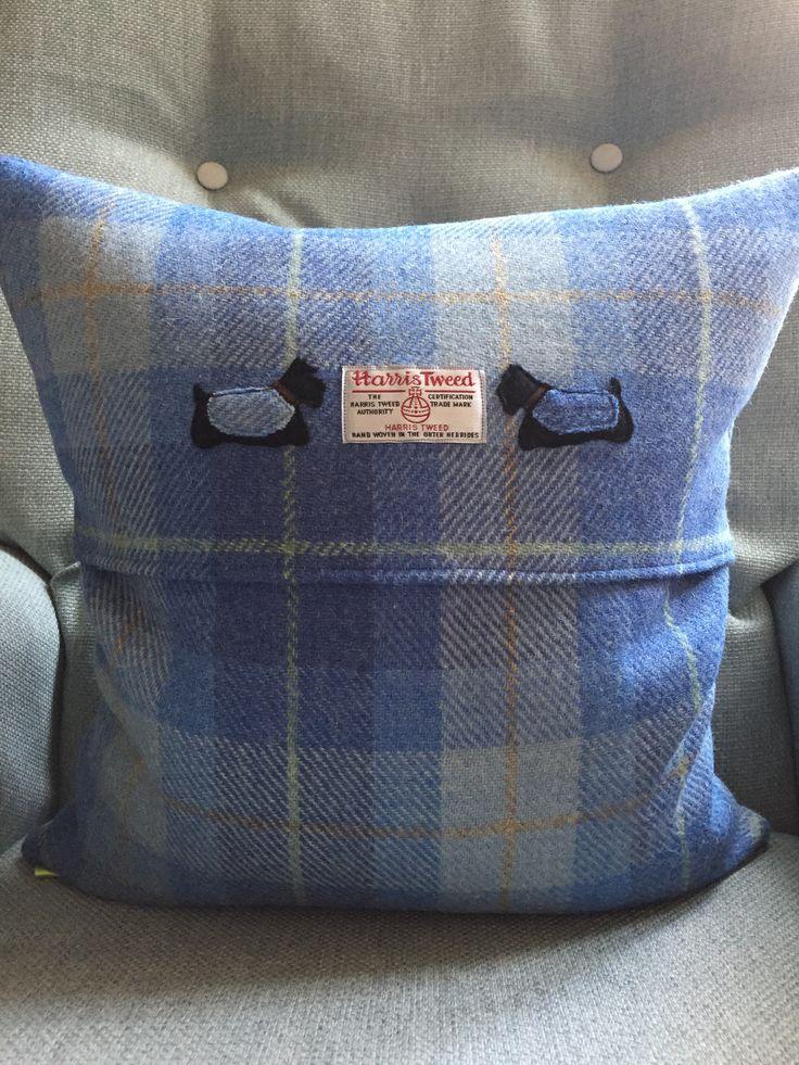 Wee Jock Harris Tweed Cushion Cover