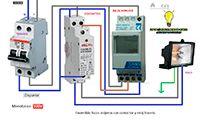Esquemas eléctricos: Encendido focos contactor reloj horario