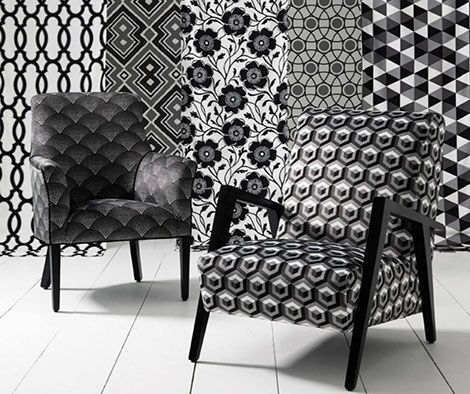 Monochrome collection from our supplier Warwick fabrics