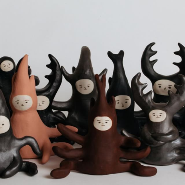 Kyoko Imazu @kyokoimazu has recently stepped away from printmaking to transform her creatures into 3D! Look at what shes creating at the Northcote Pottery Supplies @northcotepotterysupplies . . . . . . . #art #artist #gallery #art_liaison #australia #contemporaryart #artlife #artcollection #artscene #followartists #curator #creative #createart #canvas #printmaking #sculpture #pottery #creatures #kyokoimazu #northcotepotterysupplies #melbourne #northcote