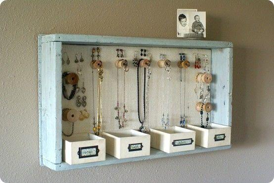 Little Hannah (a nice style): IDEAS: Cómo hacer un expositor de pendientes con un marco