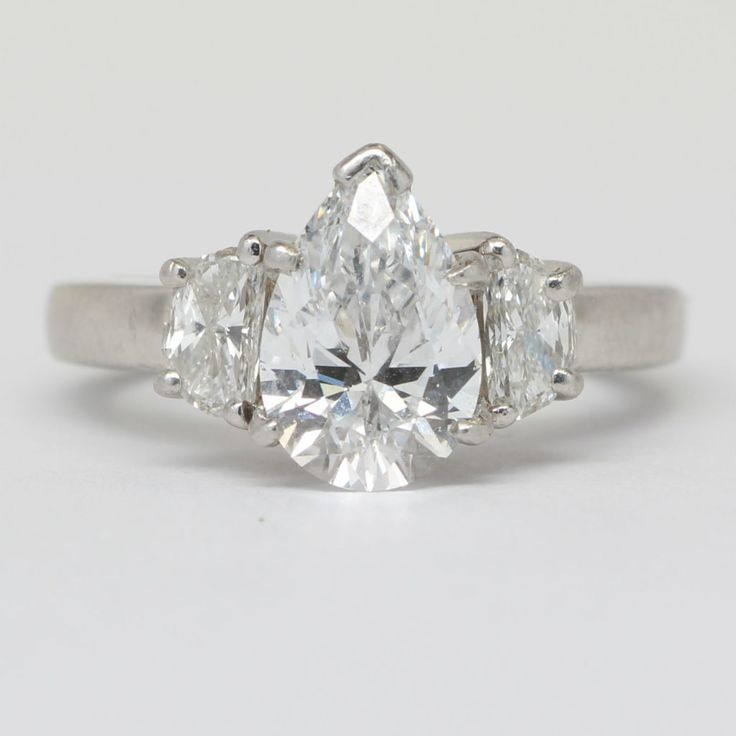 2 CTW GIA Certified Pear Diamond Engagement Ring.  Diamond Exchange Dallas is known for its excellent prices on wholesale diamond engagement rings.  Find out more at http://diamondexchangedallas.com/engagement-rings-dallas