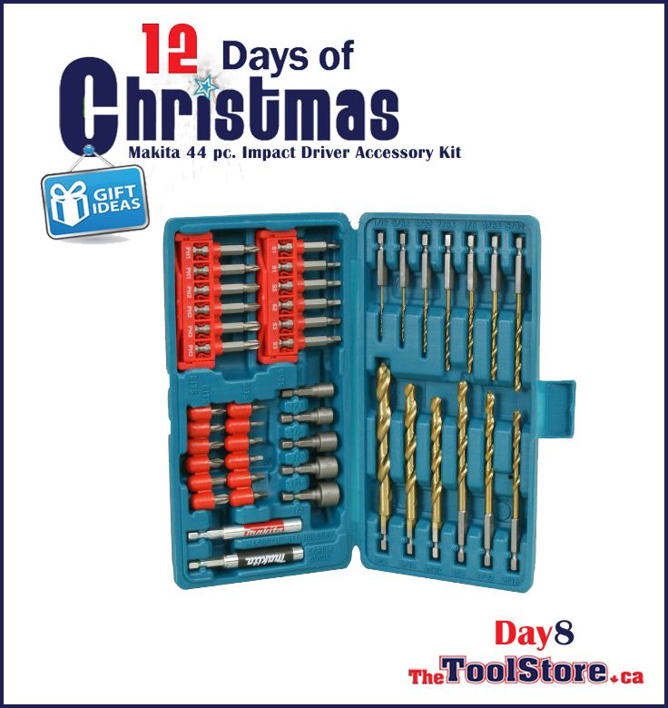 #12DaysofChristmas from @onlinetoolstore - DAY8 - Makita T-01199 44 pc. Impact Driver Accessory Bit/Drill set.