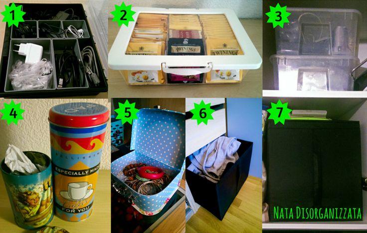 organizzare con le scatole
