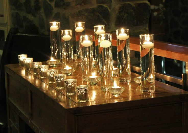 A fusion of candle light set on every cleared surface made for a breath taking first impression.