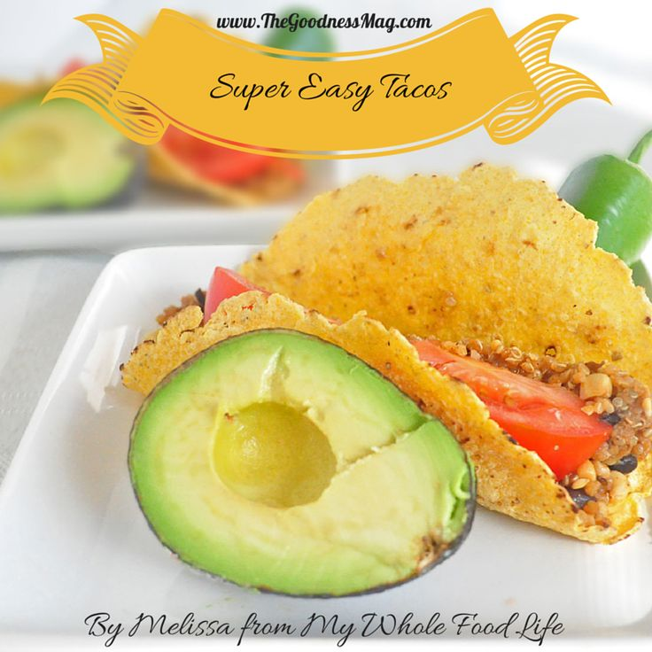 When only #TexMex will do, these Super Easy Tacos by Melissa from www.MyWholeFoodLife.com should hit the spot. They are #vegan, #dairyfree and packed full of #superfoods! There really is nothing like the sweet taste of corn on the cob...  Enjoy a FREE 7 day taste test --> buff.ly/X5KnJL
