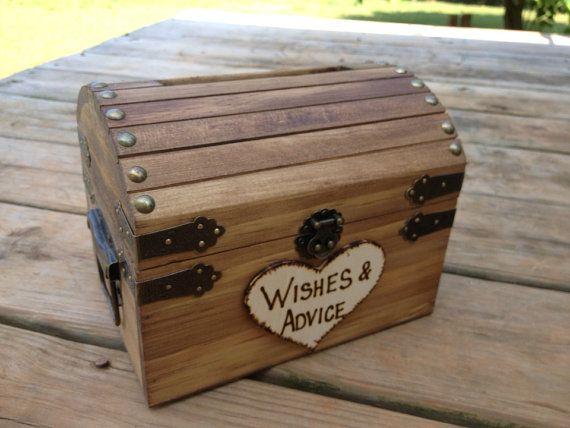 Wedding Advice Box - Wedding Chest - Wishing Well - Wedding Guest Notes - Rustic Wedding - Shabby Chic Wedding on Etsy, $39.27 AUD