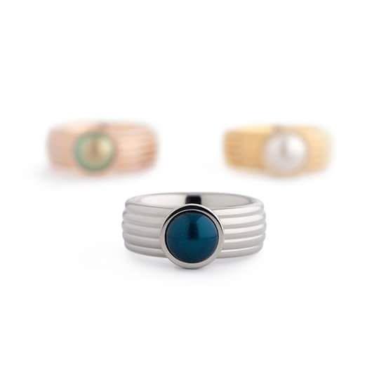 Vivid ring met pearl zetting