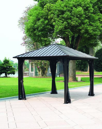 Backyard Creations Patio Awnings: Backyard Creations™ Sambra Steel Roof Gazebo At Menards