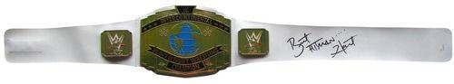 Bret The Hitman Hart Signed WWE Intercontinental Championship Toy Replica Belt JSA ITP