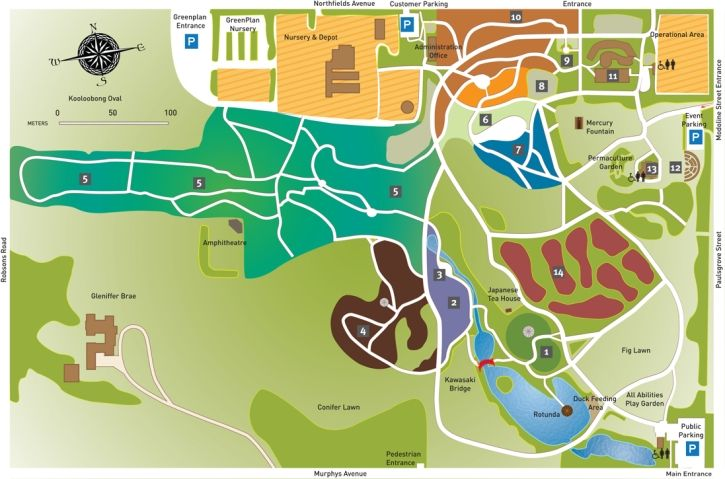 Wollongong Botanic Garden Map and calendar of events
