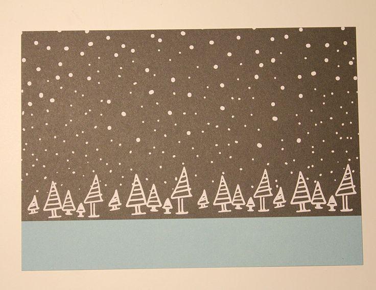 10+Weihnachtspostkarten+aus+Recyclingkarton+von+Frau+Feierlich+auf+DaWanda.com