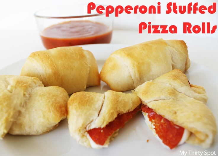 Friday Happy Hour: Appetizer Edition - Pepperoni Stuffed Pizza RollsHappy Hour, Friday Happy, Pepperoni Stuffed, Mi Thirty, Appetizers Editing, Stuffed Pizza, Thirty Spots, Rolls Mi, Pizza Rolls
