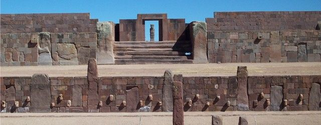 """PUMAPUNKU   Ancient Mysteries – Pumapunku Pumapunku, also called """"Puma Pumku"""" or """"Puma Puncu"""", is part of a large temple complex or monument group that is part of the Tiwanaku Site near Tiwanaku, Bolivia. In Aymara, its name means, """"The Door of the Cougar""""."""