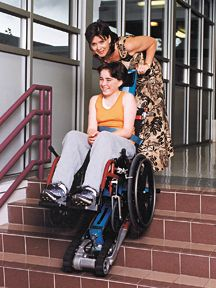 the garaventa stair trac is a portable wheelchair lift that attaches under most standard. Black Bedroom Furniture Sets. Home Design Ideas