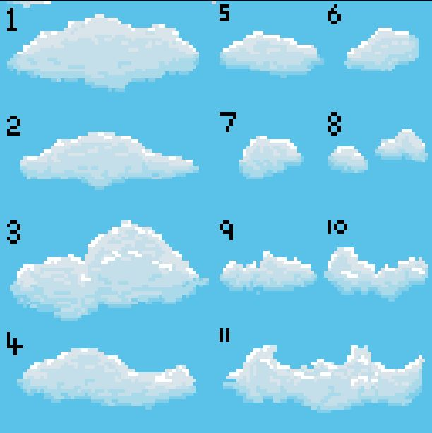 cloud pixel art - Google 검색