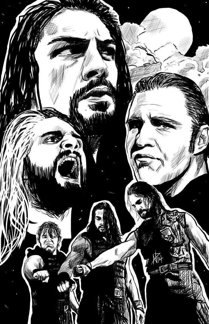 The Shield Fan Art Professional Wrestling The Shield Wwe Wwe