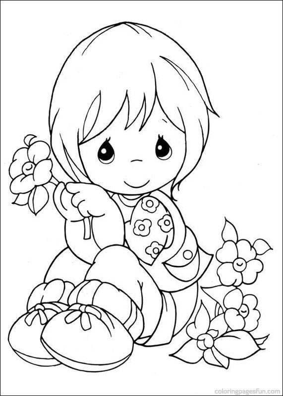 Игра раскраска цветов - Игры для девочек