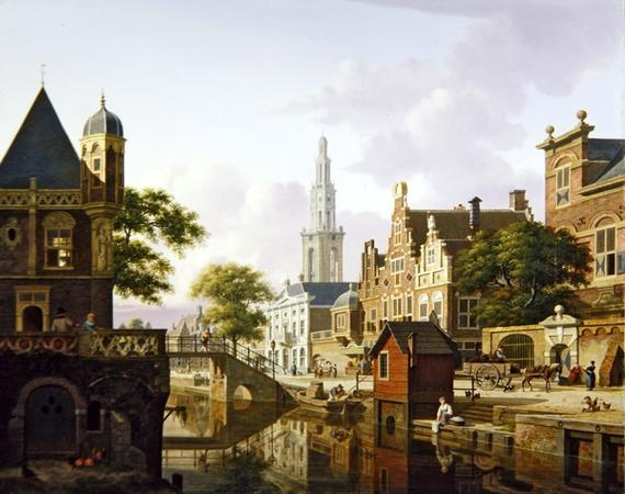 A Dutch town along a canal - Jan Hendrik Verheyen