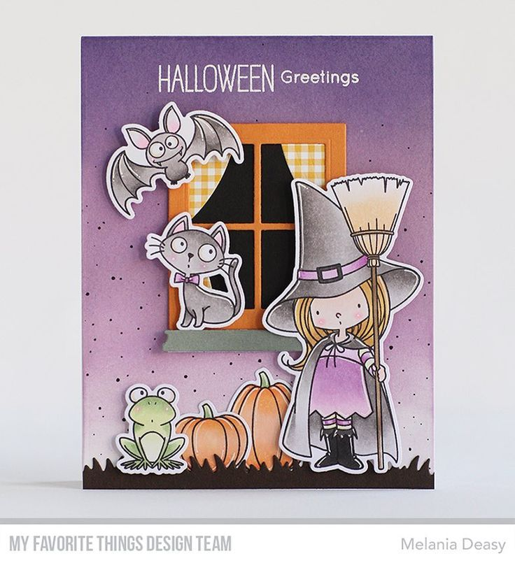 Card for @mftstamps August Card Kit Countdown Day 2. I play again with Witch Way is the Candy stamp set  #mftstamps