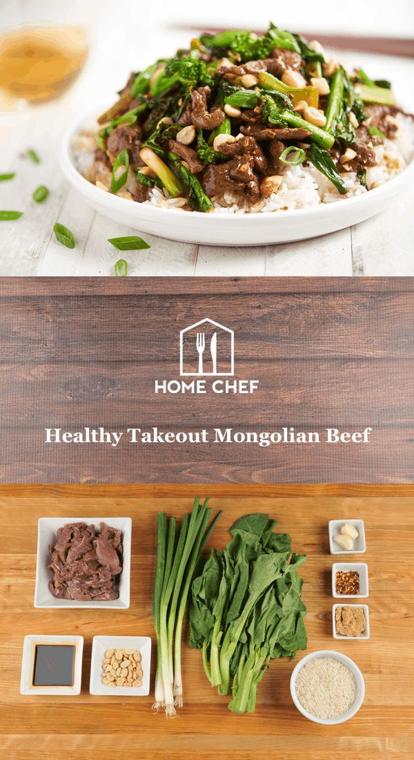 Healthy Takeout Mongolian Beef with roasted Chinese broccoli