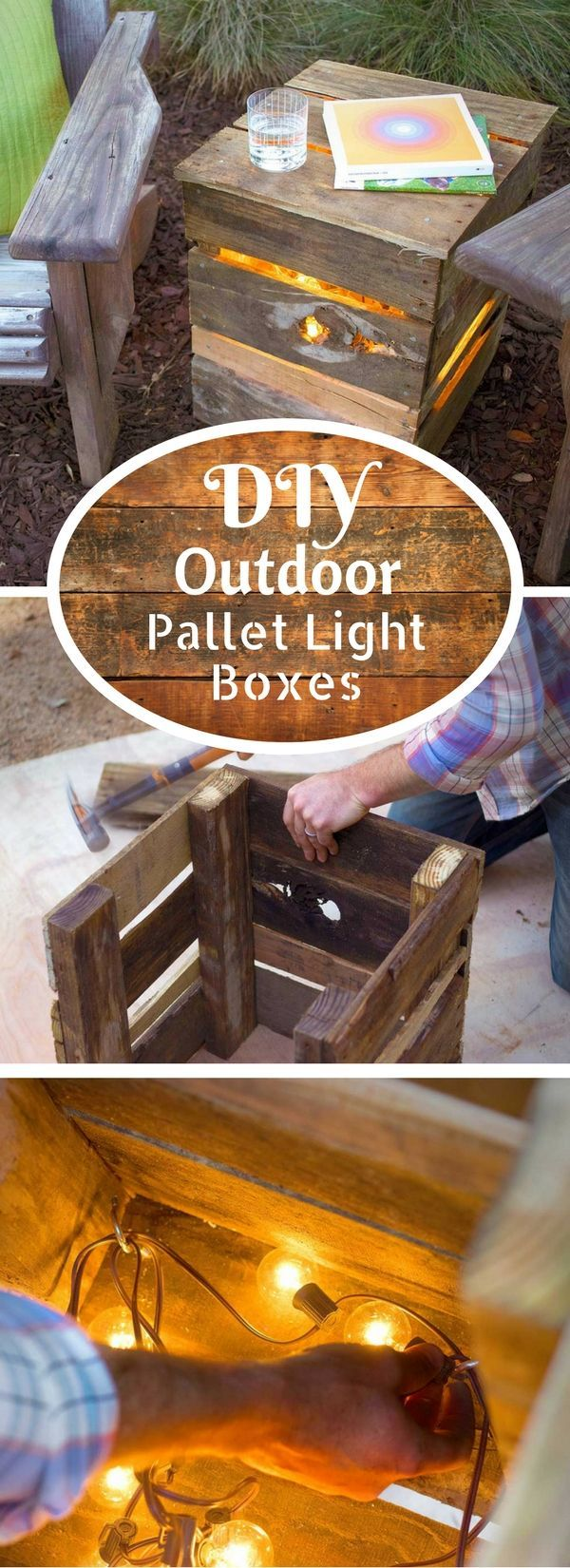Check out the tutorial on how to make easy DIY outdoor pallet lights @istandarddesign