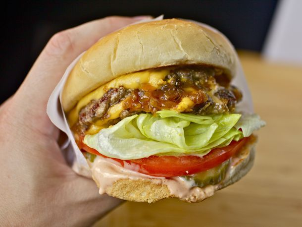 Seriously, this is the burger that will make your husband sing.  The magic is in the sauce.  It's eye-rollingly good.