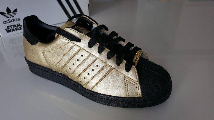 mi Adidas Superstar 80's Star Wars Limited Edition 2015 New 37 1/3 SPRZEDAM  Zapraszam:   http://www.vinted.pl/damskie-obuwie/obuwie-sportowe/10761165-mi-adidas-superstar-80s-limited-star-wars-gold-black-zlote-czarne-sneakers-37-13-nowka