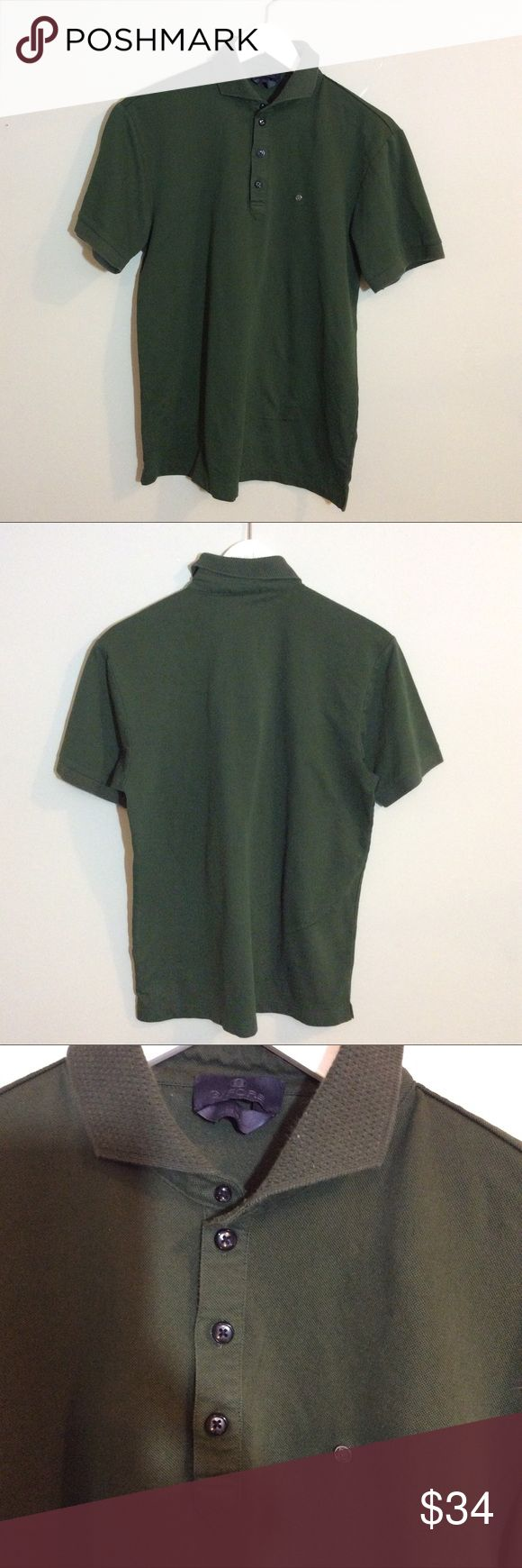 """G/FORE GFORE Forest Green Golf Polo Shirt Medium Make this yours! Men's G/Fore Luxury Golf Polo Shirt. Sold at Saks.  The Measurements: Size Medium Chest: 39"""" g/fore Shirts Polos"""