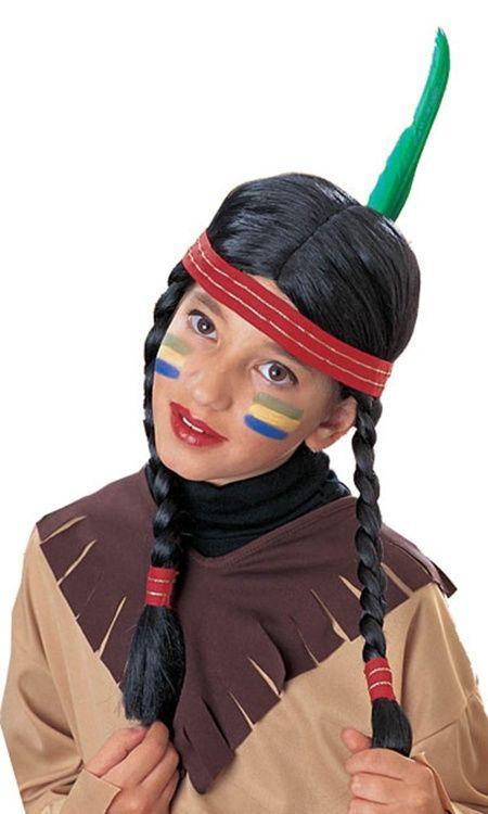 Dziecięca peruka, która przemieni każdą dziewczynkę w sympatyczną Indiankę