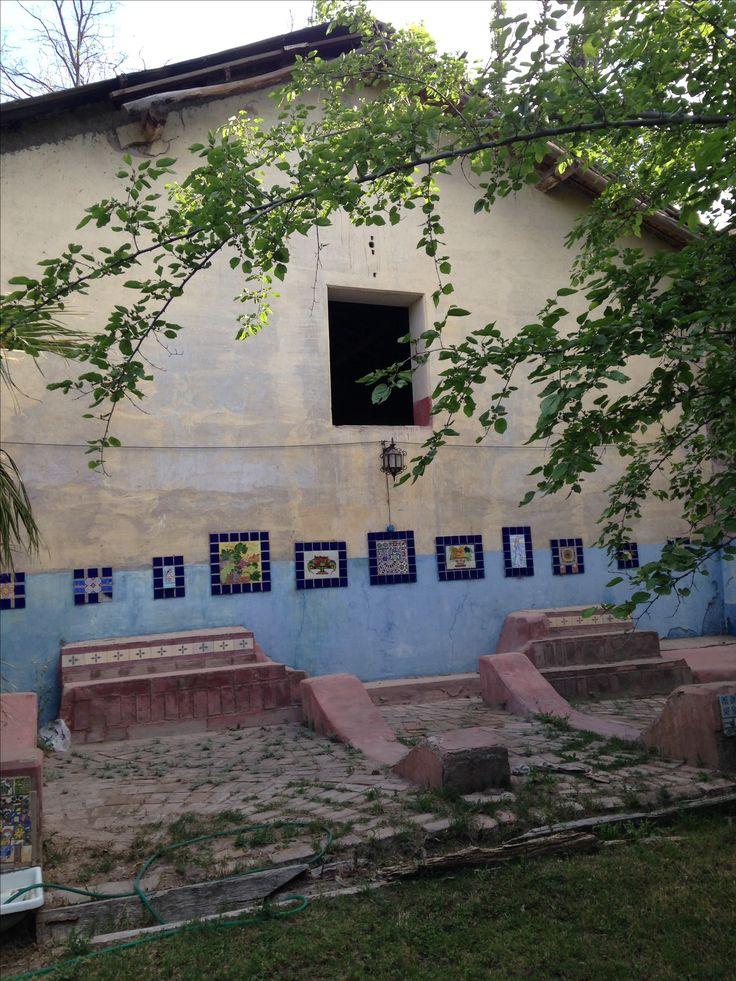 MODESTA REBOREDO.  Puesta en valor de azulejos en espacio de la bodega.  Mendoza . Argentina.