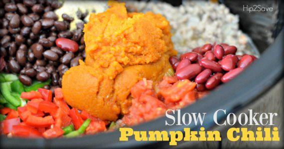 Slow Cooker Pumpkin & Ground Turkey Chili