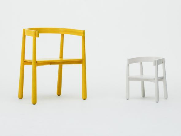 KARIMOKU NEW STANDARD HOMERUN KIDS CHAIR / カリモクニュースタンダード ホームラン キッズチェア(クリア)