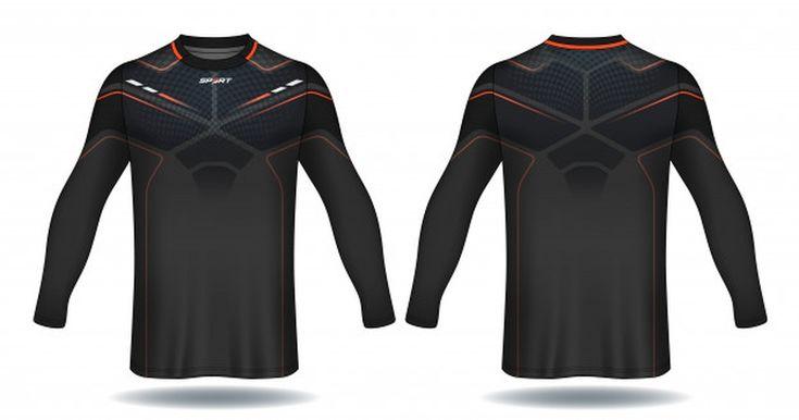 Download Long Sleeve Soccer Jersey Template Sport T Shirt Design Paid Sponsored Affiliate Soccer Sleeve Shirt Soccer Jersey Tshirt Designs Sports Design