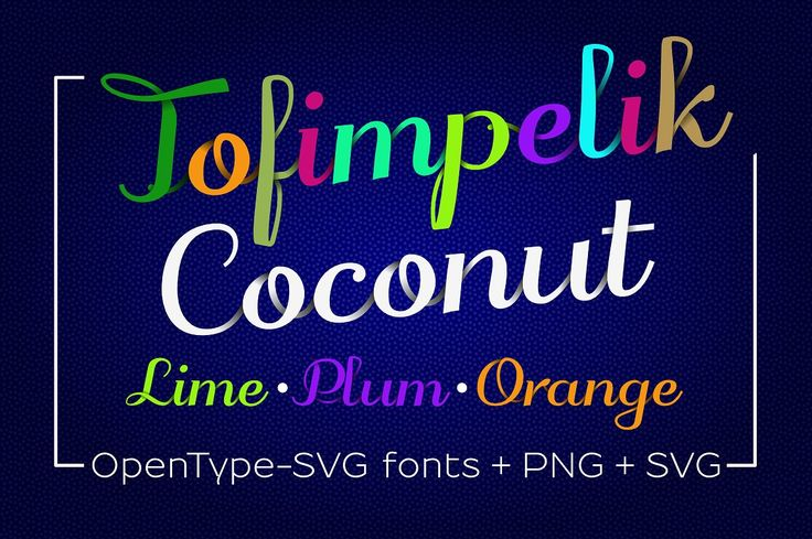 Color SVGinOT fonts Tofimpelik-Candy & Fruits by glukfonts on @creativemarket