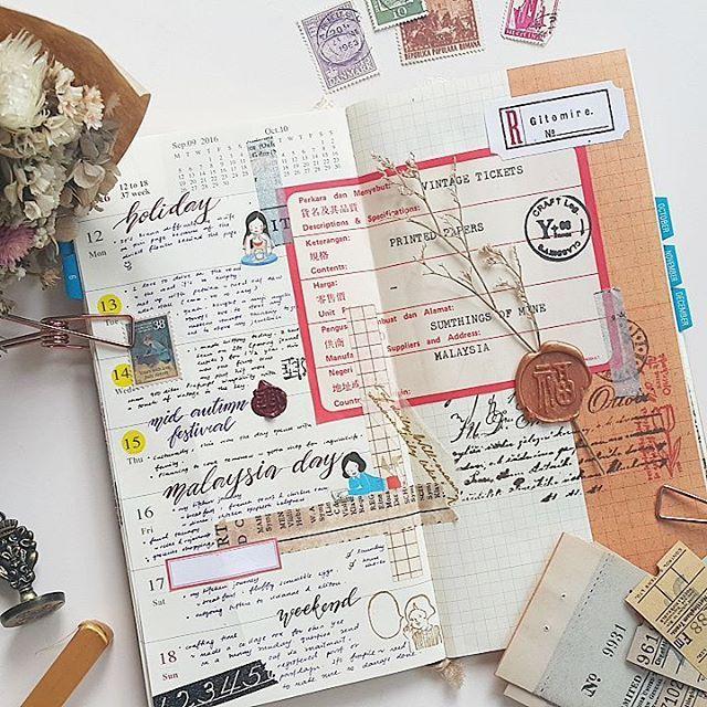 Week 37 #midori #travelersnotebook #travelersfactory #designphil #journal…