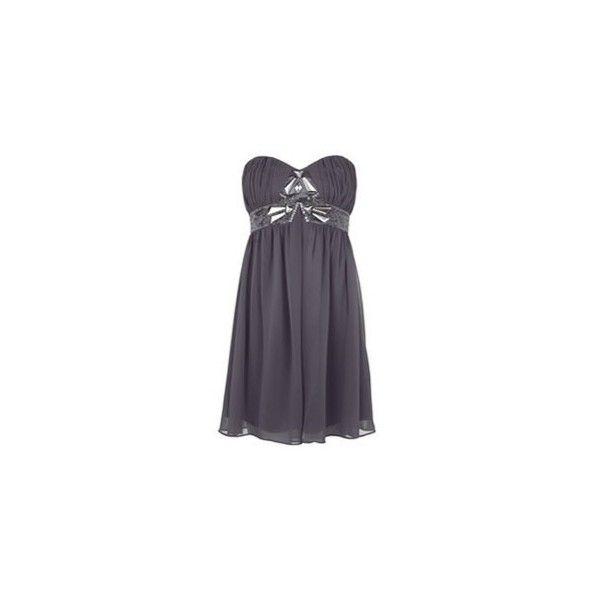 Kleid Lipsy - Kleider in Grau ❤ liked on Polyvore featuring dresses, vestidos, fancy dresses, lipsy, dressy dresses and lipsy dress