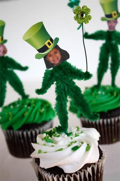 6 St. Patricks Day DIY Ideas: Holiday, Ideas, Cupcake, St. Patrick'S Day, St Patty, Chenille Leprechaun, St Patricks, St Patrick'S Day