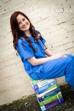 nurse graduation portraits - cute!!!I can't wait until the day I can do this!