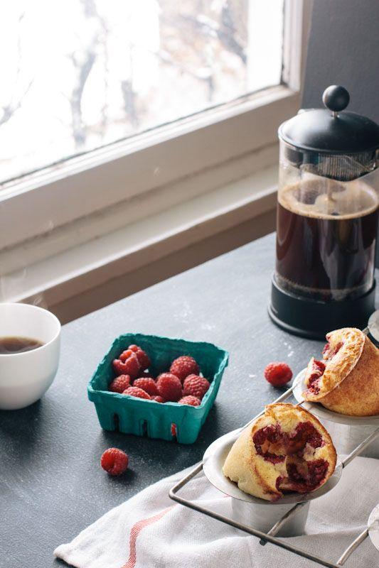 Raspberry Popover Recipe • theVintageMixer.com