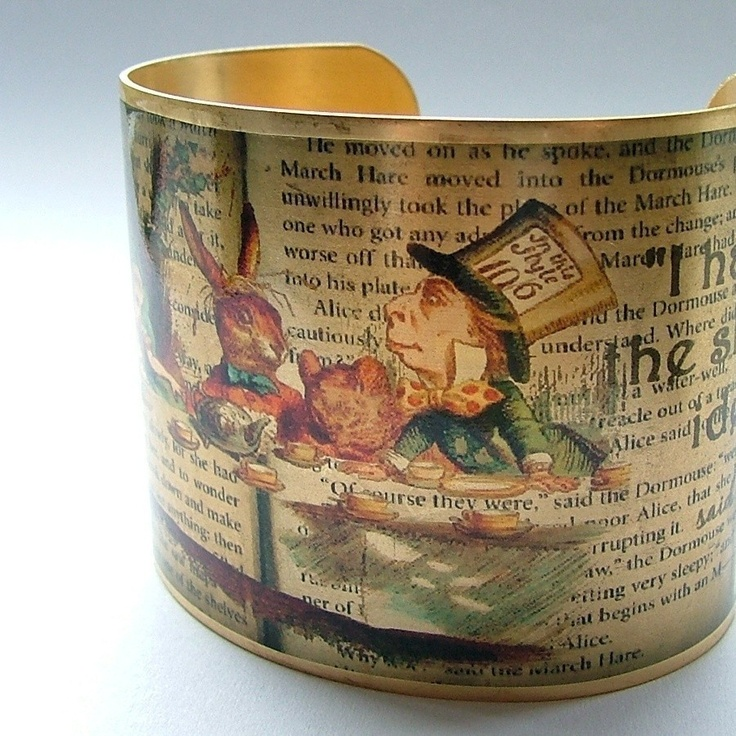 Alice In Wonderland Bracelet A Mad TeaParty Literary