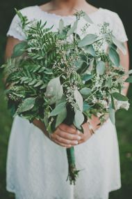 If you're looking for a charming twist on a bouquet, consider all greens! This is a great example of a bouquet using only greens - including seeded eucalyptus and leather leaf fern. Shop these and other beautiful greens at GrowersBox.com!