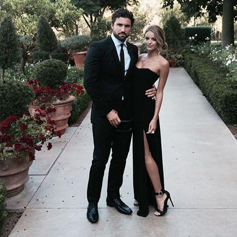 Brody Jenner and girlfriend Kaitlynn Carter dress up for Reggie Bush's July 12 wedding.