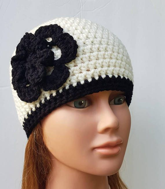 Check out this item in my Etsy shop https://www.etsy.com/ca/listing/579478501/womens-crochet-hat-womens-flower-beanie