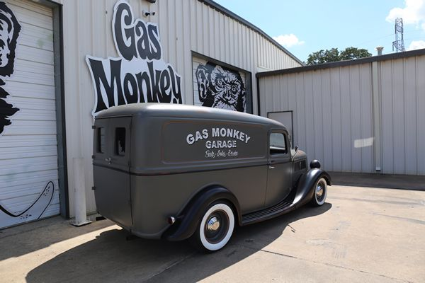 Gas Monkey Garage - 1937 Ford Panel Delivery Van: Exterior - Rear and Right Side - Interior Materials by LeBaron Bonney Company: www.lebaronbonney.com (04)
