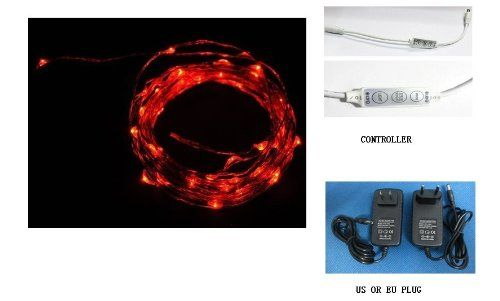 Q20ag New Starry Lights - Red Color Copper Wire - 15ft 5m LED String Light - Includes Power Adapter and Flash Controller - 2nd Generatin with 100 Individual Led's- Flexible Dc12v Power 5-6w qlee http://www.amazon.com/dp/B00COO77R4/ref=cm_sw_r_pi_dp_EwNhwb185S7J4
