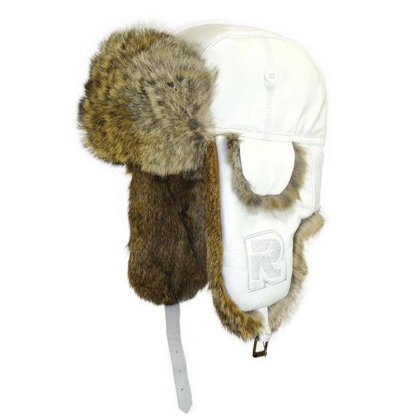 Chapka Rush Rmoutain en cuir Blanc #hiver #mode #homme #streetwear #urbanwear #snow avec @hatshowroom