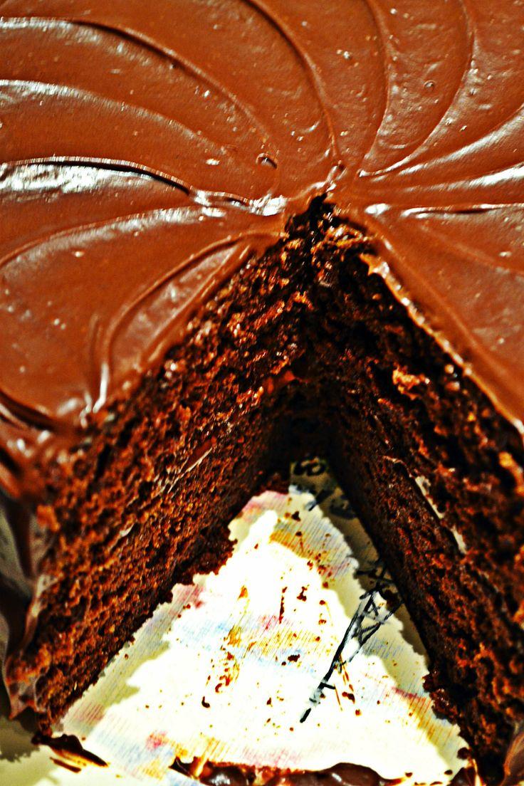 Light Applesauce Chocolate Cake