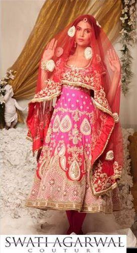 Sikh Wedding Brides - Swati Agarwal Bridal Couture Info & Review | Bridal & Trousseau Designers in Kolkata #anarkali #wedmegood